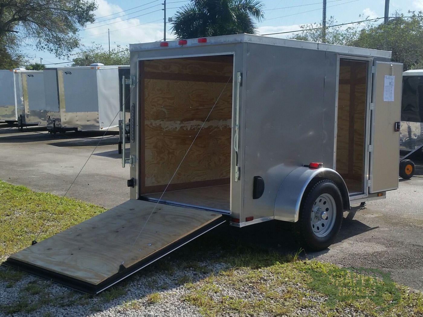 Side Door Tractor Trailer : Sa trailer pewter ramp side door vents