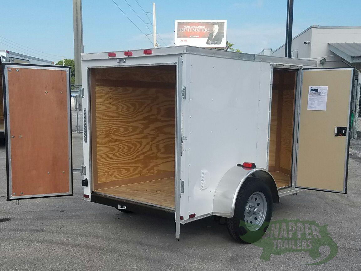 Side Door Tractor Trailer : Sa trailer white barn doors side door vents
