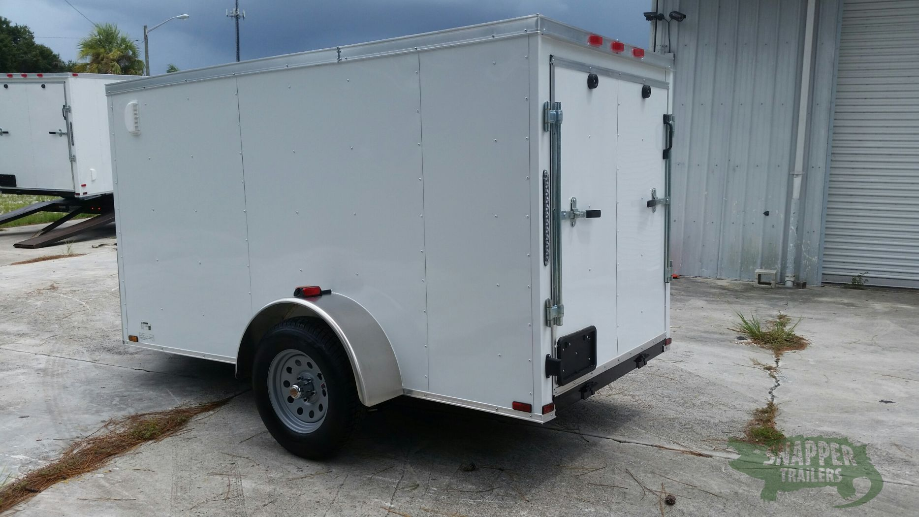 Side Door Tractor Trailer : Sa trailer white ramp side door vents