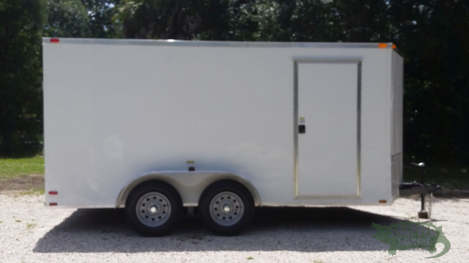 7x14 ta trailer white ramp side door extra height for Rv height