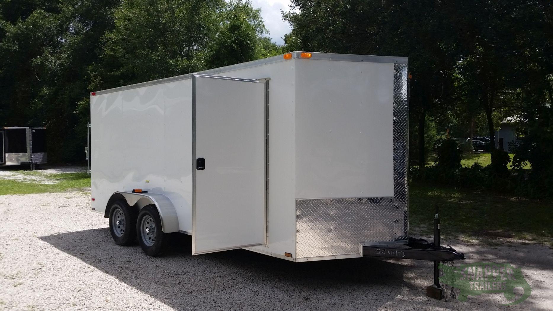 Side Door Tractor Trailer : Ta trailer white ramp side door extra height