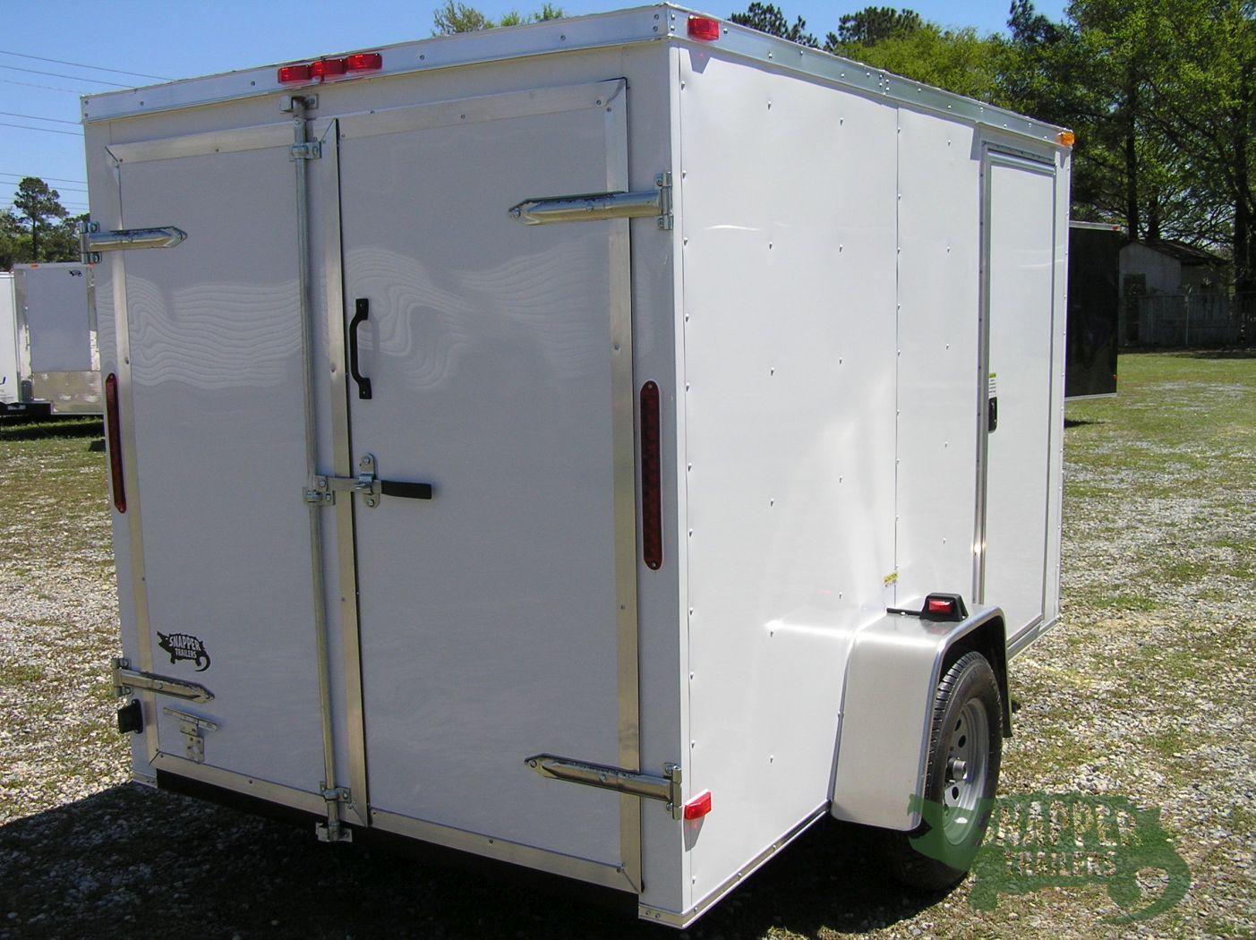 Side Door Tractor Trailer : Sa trailer white double doors side door snapper
