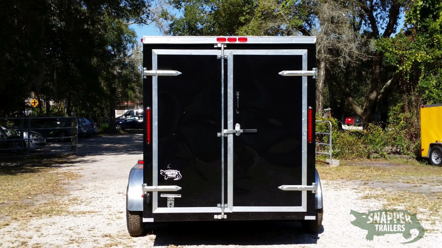 Side Door Tractor Trailer : Ta trailer black double doors side door snapper