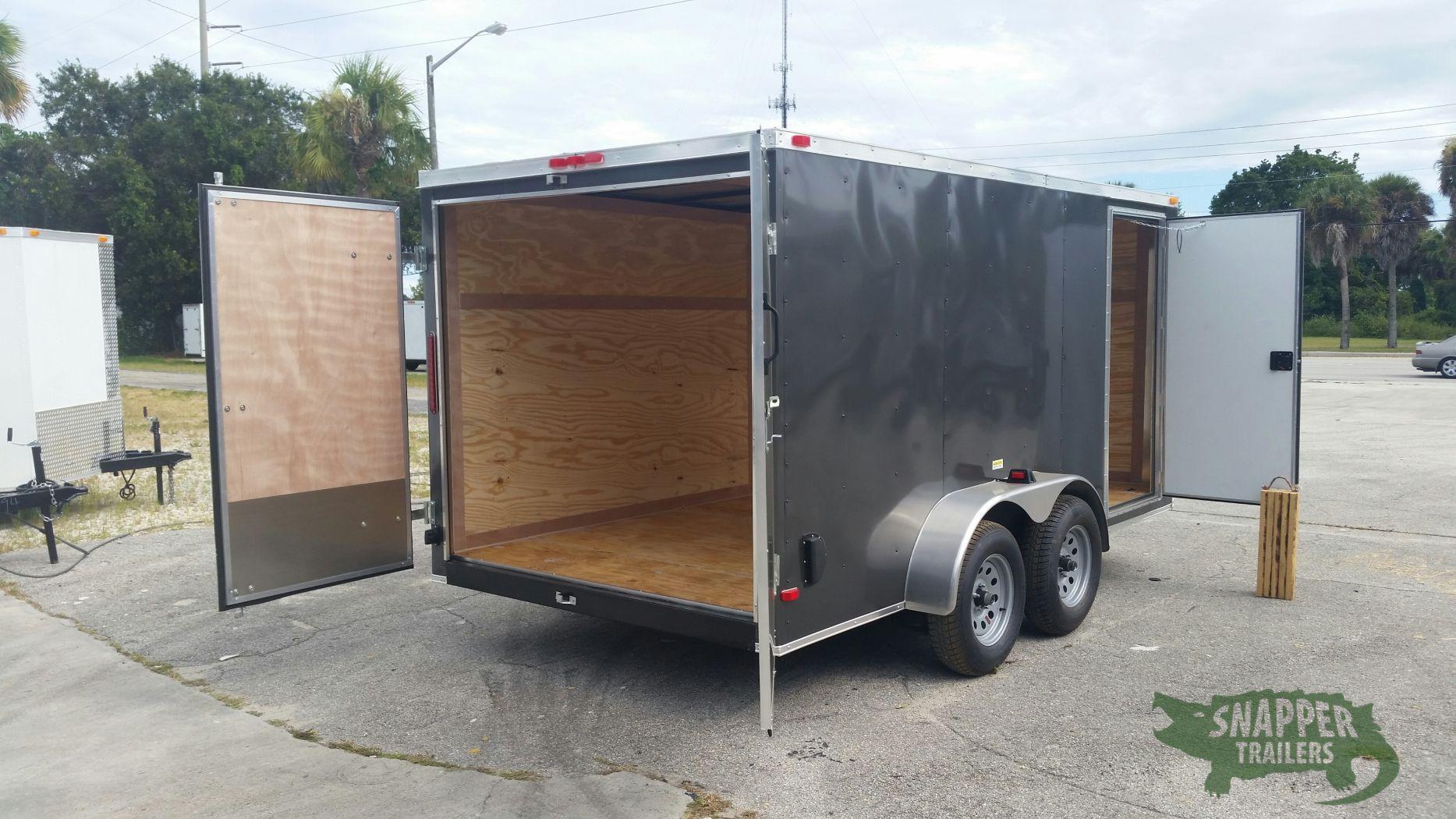 Side Door Tractor Trailer : Ta trailer charcoal gray double doors side door