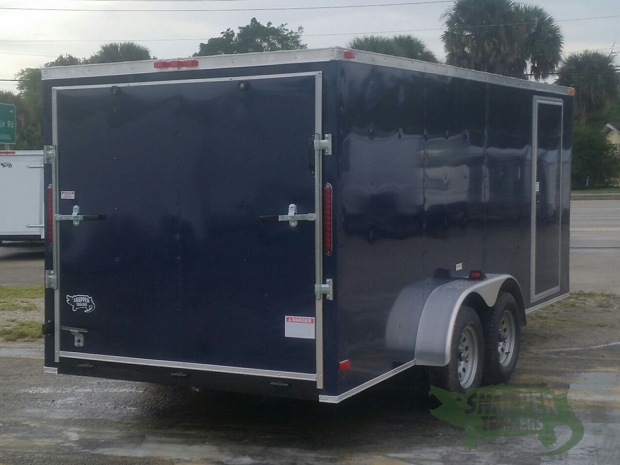 Side Door Tractor Trailer : Ta trailer blue ramp side door snapper trailers