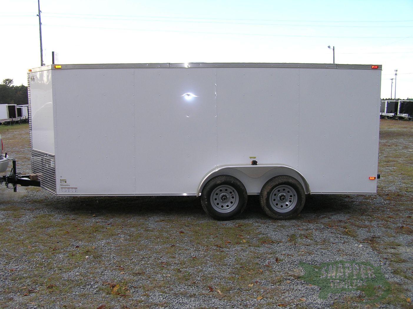 Side Door Tractor Trailer : Ta trailer white ramp side door snapper trailers