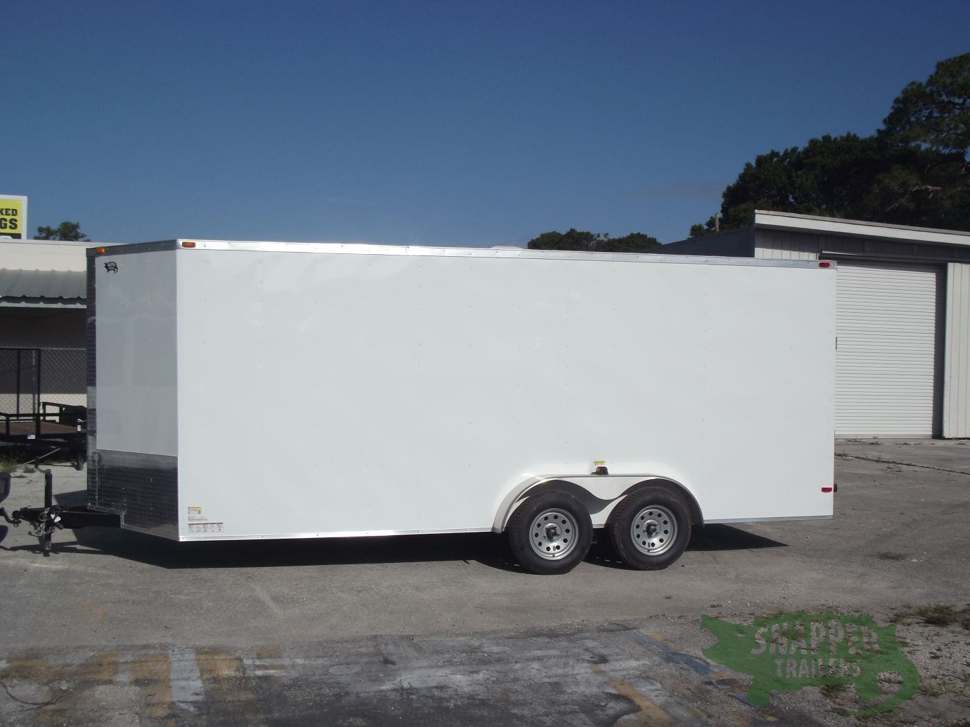 7x18 ta trailer white ramp side door extra height for Rv height