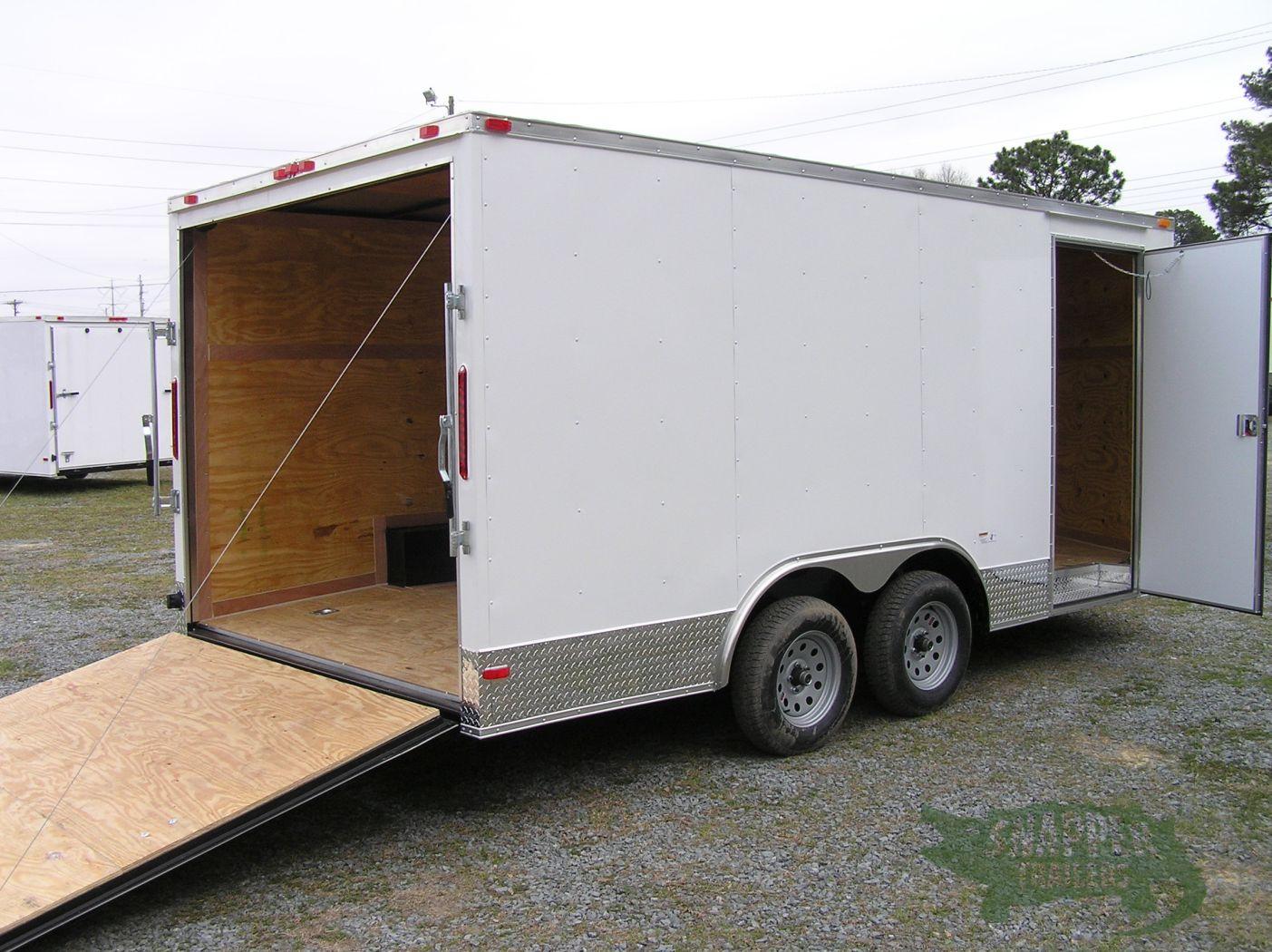 Side Door Tractor Trailer : Ta trailer white ramp side door atp trim