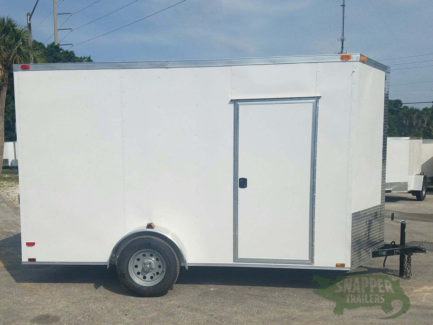 6x12 sa trailer white ramp side door extra height for Rv height