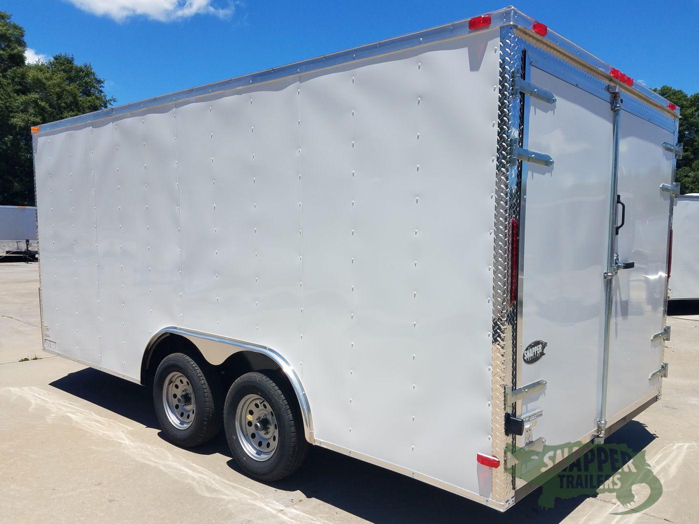 Side Door Tractor Trailer : Ta trailer white barn doors side door snapper