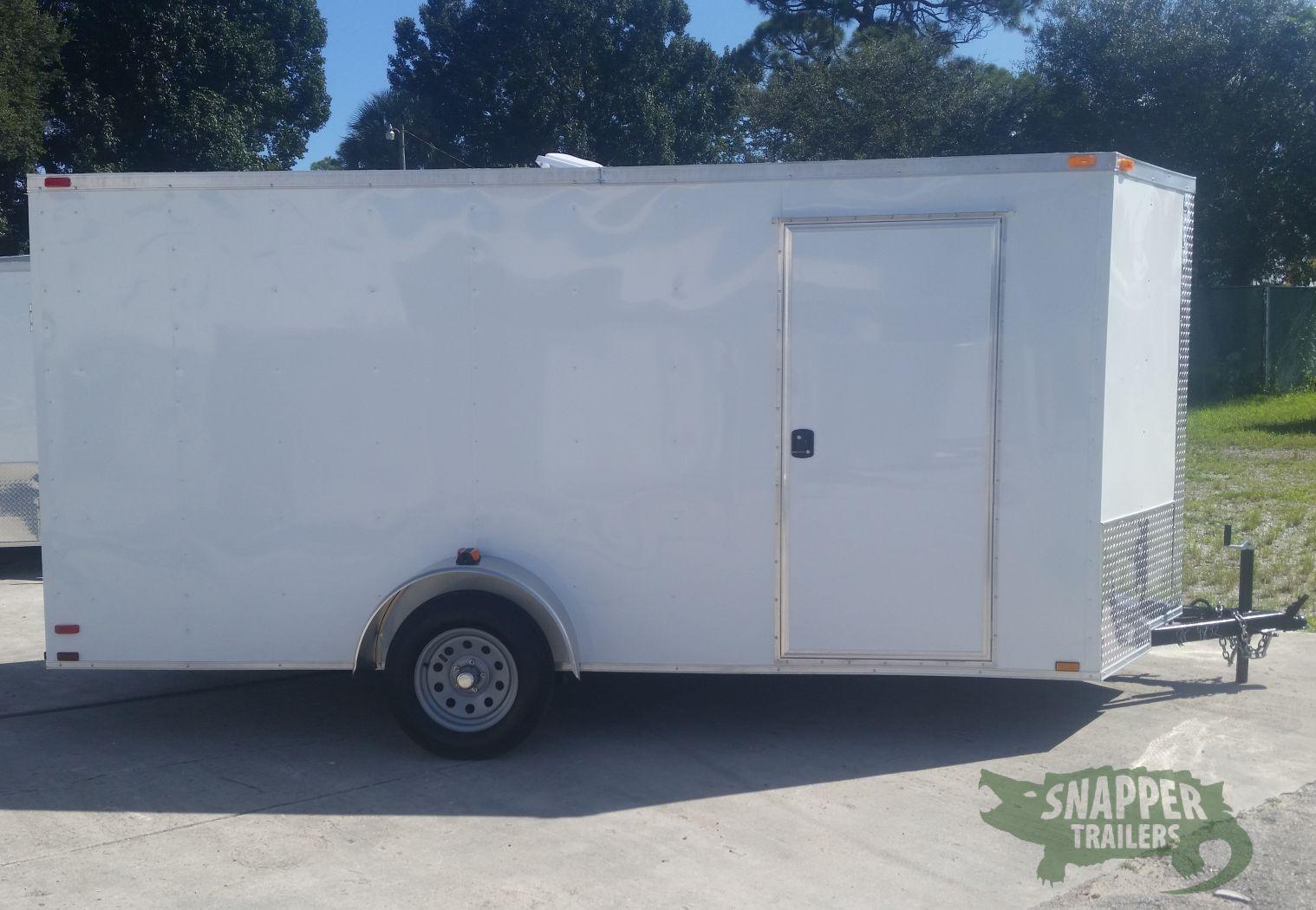 Side Door Tractor Trailer : Sa trailer white ramp side door extra height