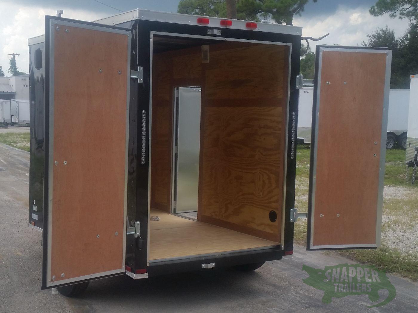 Side Door Tractor Trailer : Sa trailer black double doors side door