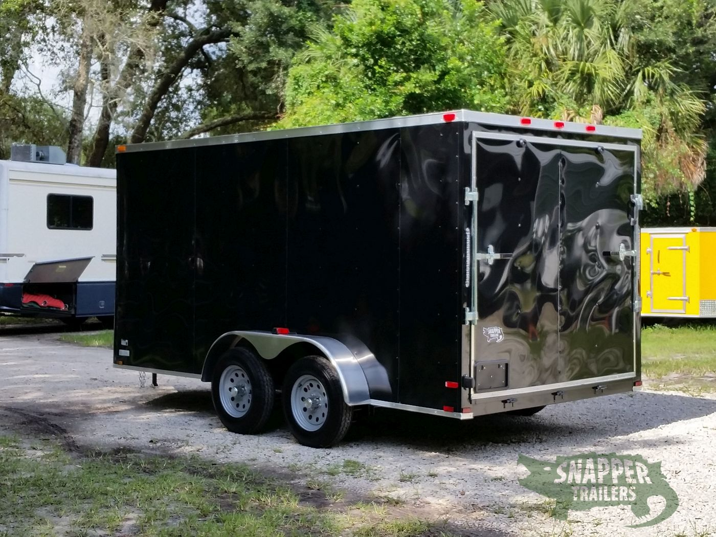 7x14 ta trailer black ramp side door extra height for Rv height