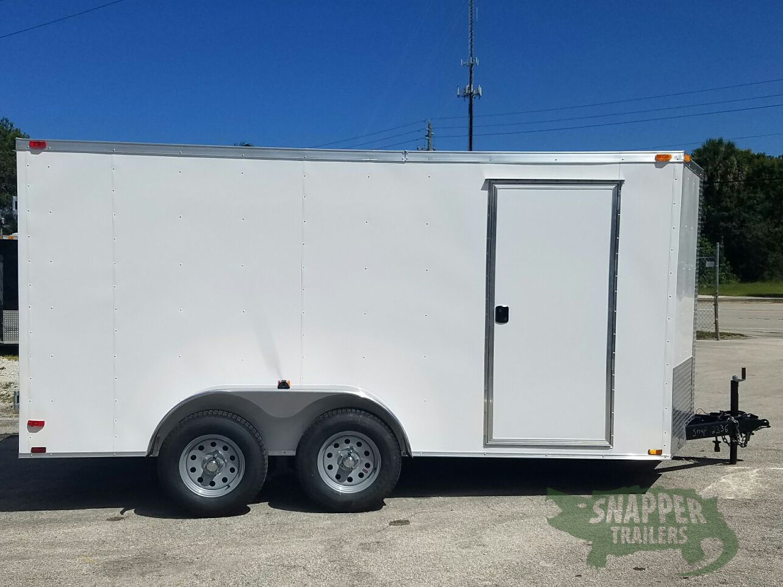7x14 ta trailer white barn doors side door extra for Rv height