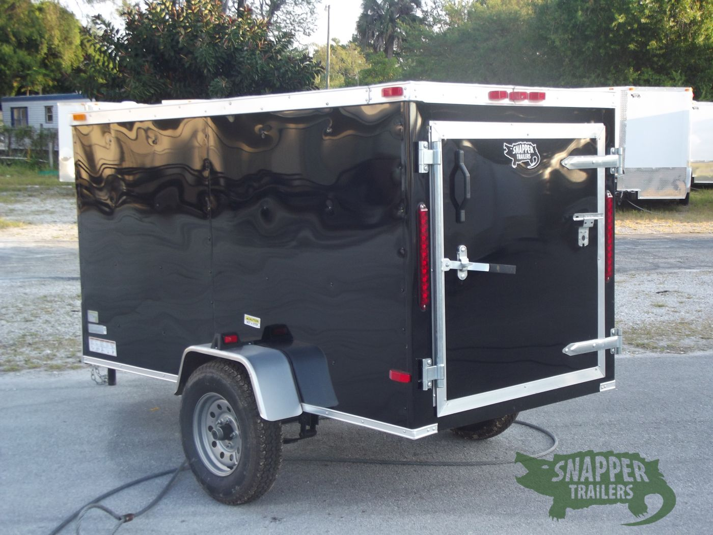 Side Door Tractor Trailer : Sa trailer black single door side snapper