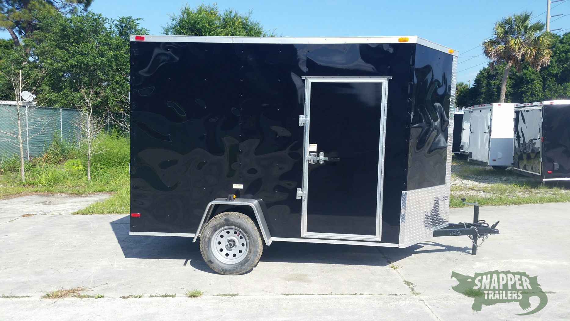 6x10 sa trailer black ramp side door extra height for Rv height