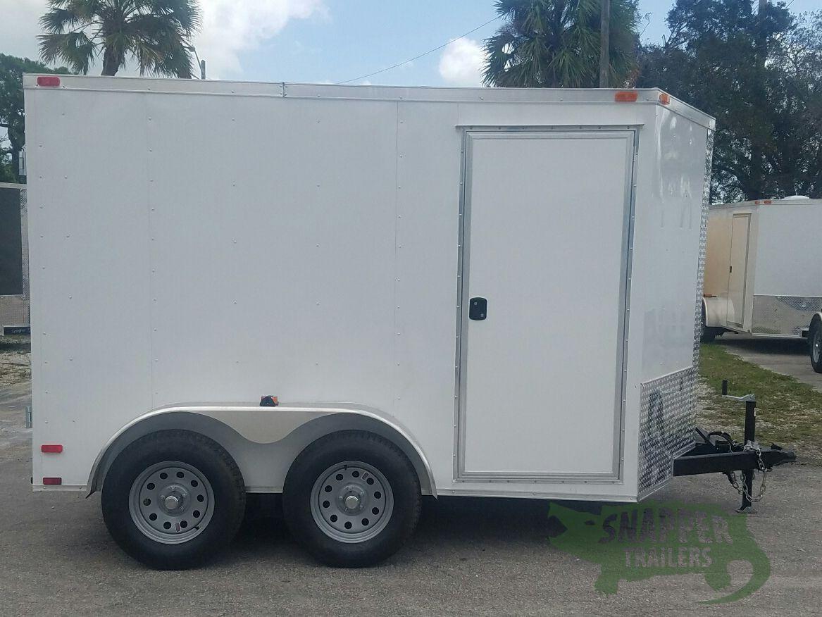 7x10 TA Trailer - White, Barn Doors, Side Door, Extra ...