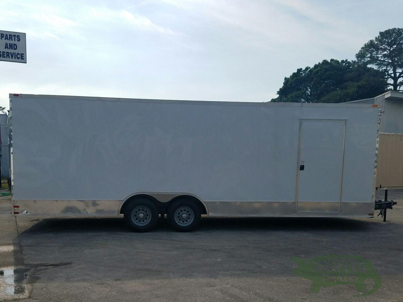 Ta trailer white ramp side door d rings 5k for Rv height