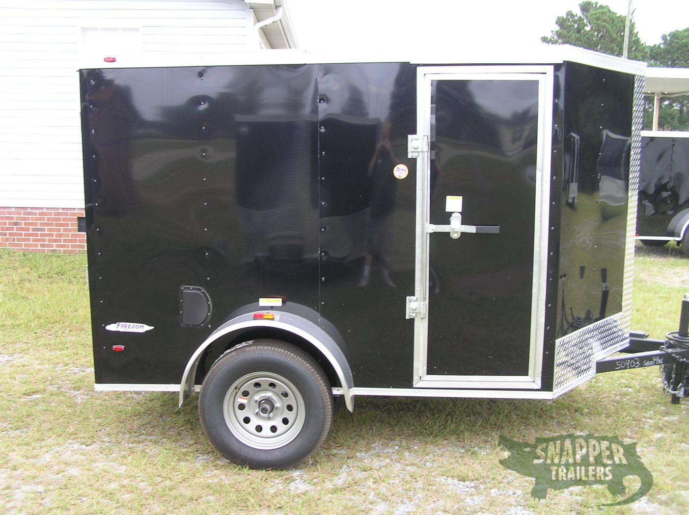 5×8 SA Trailer – Black, Ramp, Side Door, Additional Height, E-Track