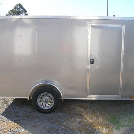 6×12 SA Trailer – Pewter, Ramp, Side Door, Extra Height