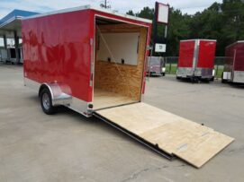 BQ 6x12SAL Red R RV Options 4752 Rear Left Open