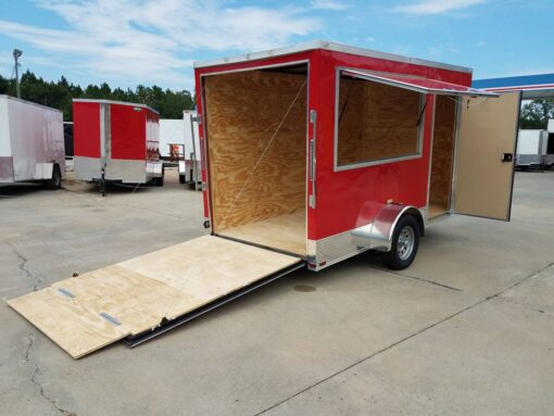 BQ 6x12SAL Red R RV Options 4752 Rear Right Open
